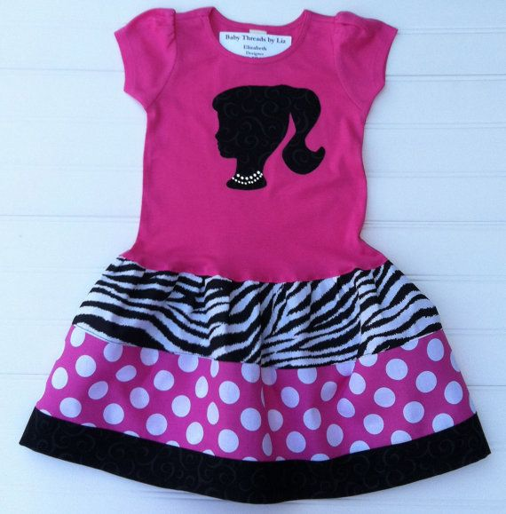Barbie Inspired Dress Available in  6/9 months by BabyThreadsByLiz, $26.00