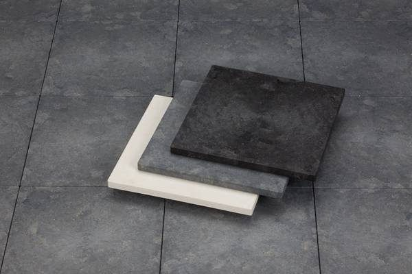 UPM ProFi Floor in all three colours, Marble White, Stone Grey and Night Sky Black.