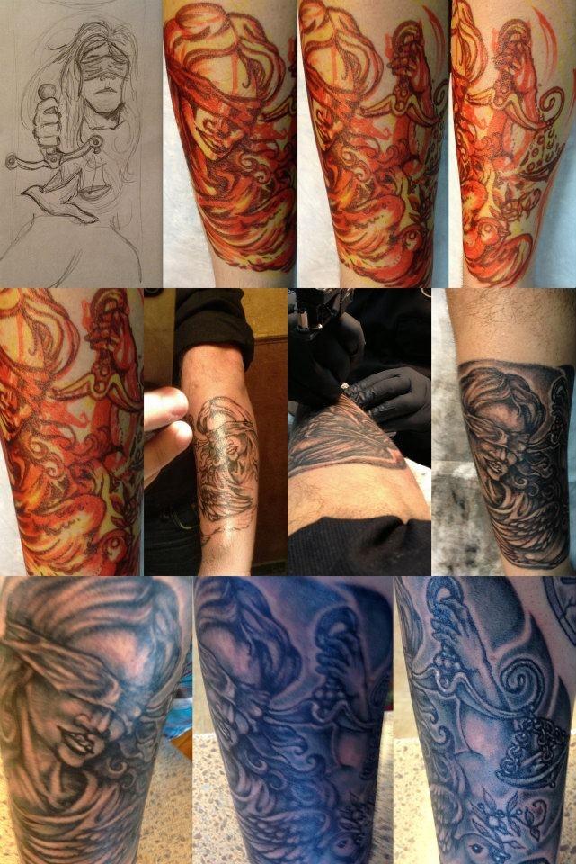Lady Justice & Dove tattoo (justice & forgiveness) | tats ...