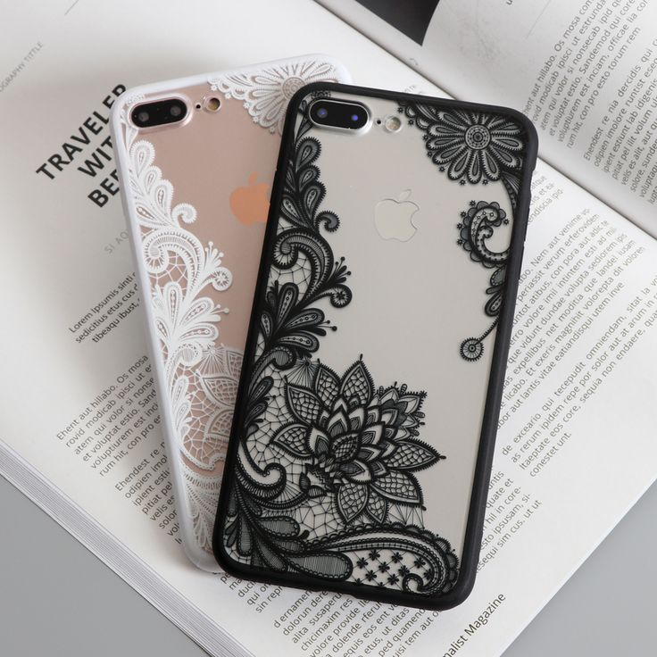 White and Black Floral Henna Sexy Lace iPhone 7 Plus Cases
