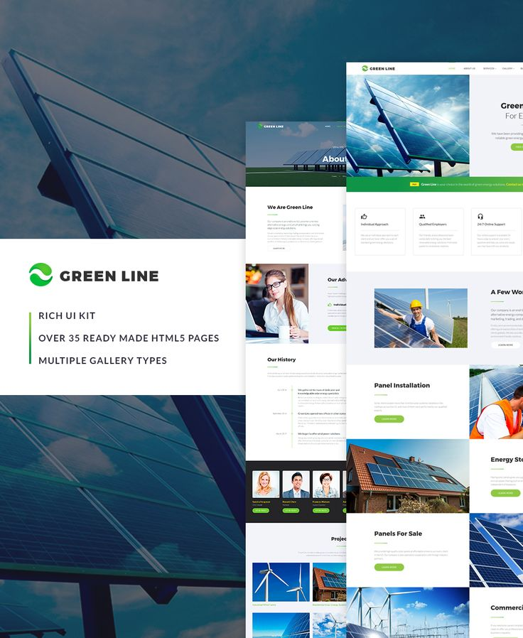 Website Template , Green Line - Environmental Multipage