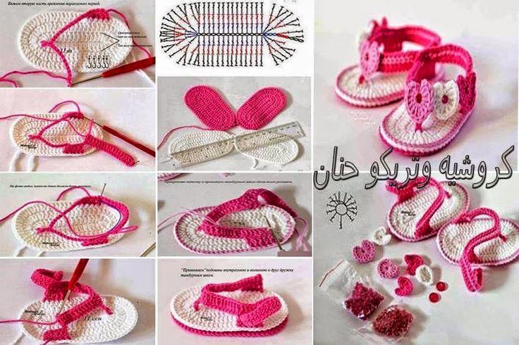 Mejores 105 imágenes de Zapatitos bebé en Pinterest   Patrón de ...