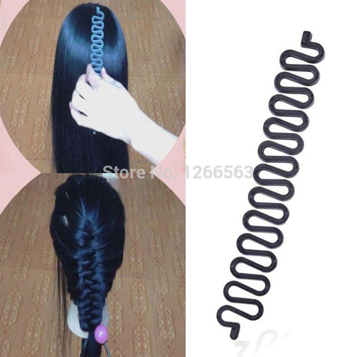 Mode Meisje Vrouwen Zwarte Haarband voor Haar Vlecht Plastic Twist Roller Hoofdband Haarband Haaraccessoires