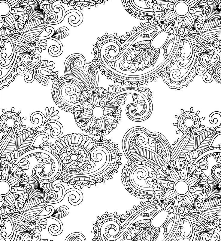 abstract doodle zentangle zendoodle paisley coloring pages colouring adult detailed advanced printable kleuren voor volwassenen coloriage