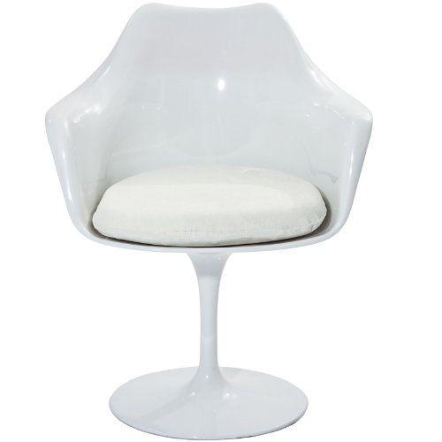 LexMod Eero Saarinen Style Tulip Armchair with White Cushion LexMod http://www.amazon.com/dp/B003VPC6V2/ref=cm_sw_r_pi_dp_9lcTtb0QJ11N7CWB