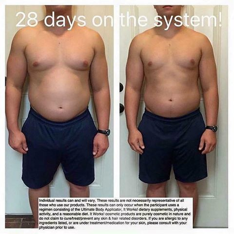 Just 28 days on The System!! This is one of our BEST weight loss packages!! It includes our amazing Greens, A Free Blender Bottle, our newest product Cleanse which is a two day cleanse, our thermofit which is used to naturally boost your own bodies metabolism and a box (a full treatment) of our Wraps!!