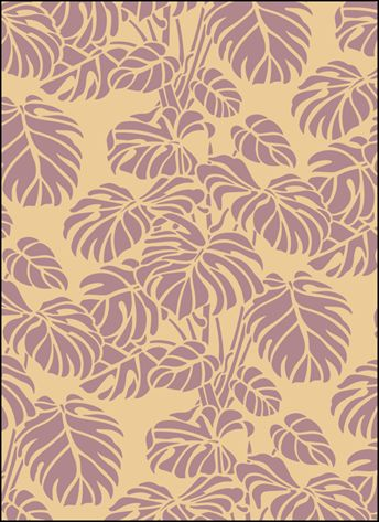 Click to see the actual VN128 - Monstera stencil design.