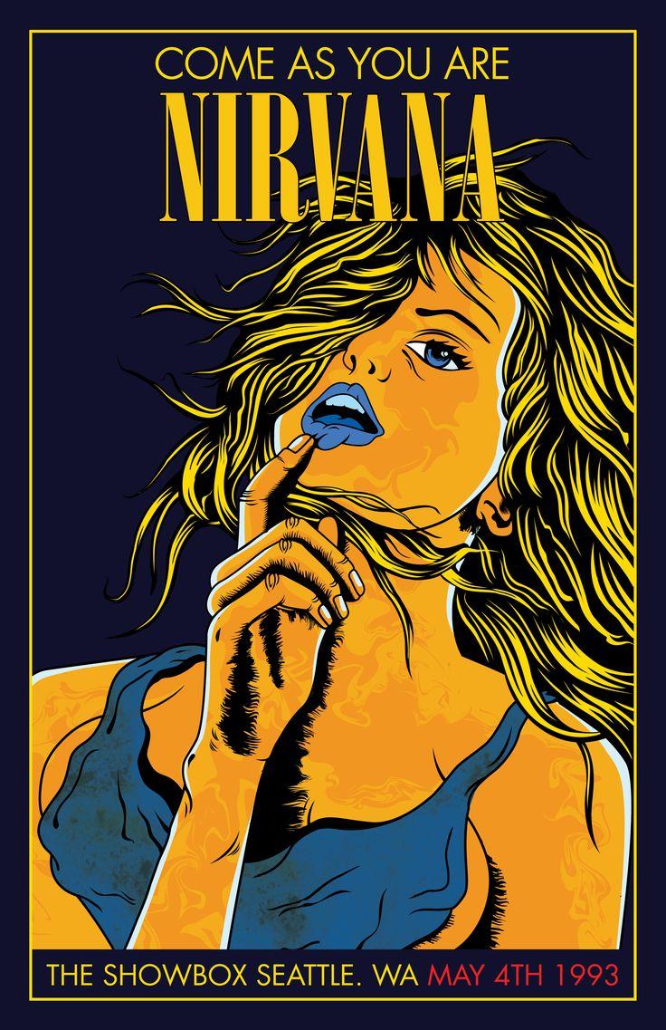 Nirvana poster Illustration by Maximo Mandl