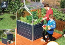 Plant Inn Contained Raised Planter Easy to assembly and install. Great looking addition to your home.