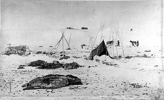 relationship between ghost dance and wounded knee massacre quotes