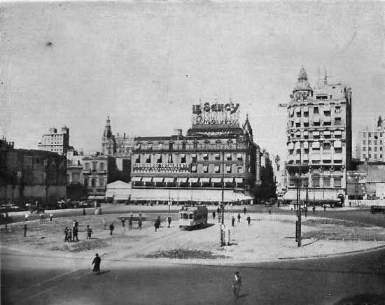 "La ""rotonda"" del obelisco antes que se levantara en 1936"