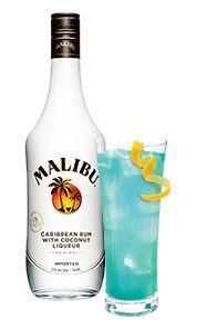 Deep Blue Punch - Malibu Best Summer Ever - coconut rum, blue curacao, pineapple juice, lemon lime soda