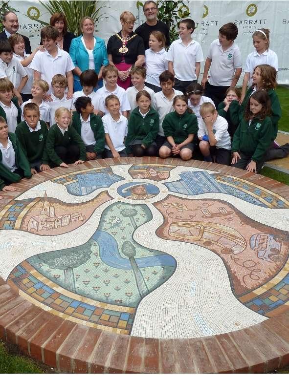 Hemel Hempstead Magic Roundabout Mosaic - Gary Drostle © 2011