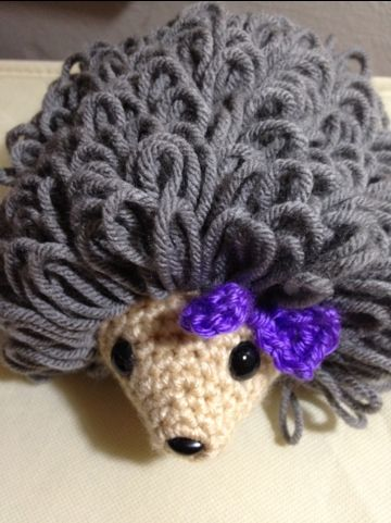I love hedgehogs. I may add feet to her later, but I think she is pretty cute the way she is. If you need a tutorial on loop stitch, click here Copyright 2012: Drunken Aunt Wendy Designs Materials ...