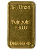 1/10 Unze Goldbarren der Degussa AG
