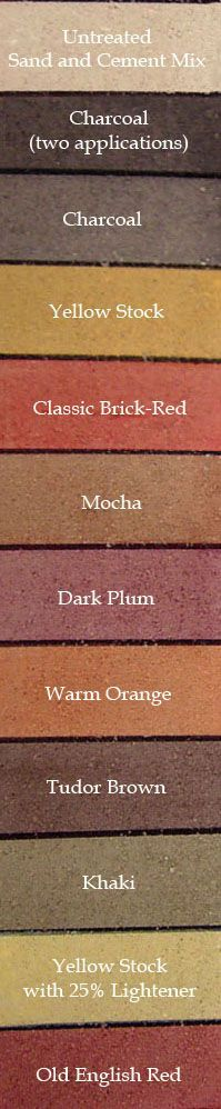 How to change your brick color. Look into this for the fireplace and front porch.