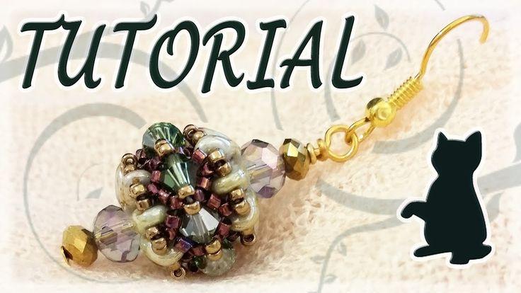 Beading tutorial: Superduo beads and Swarovski bicones and... cats!