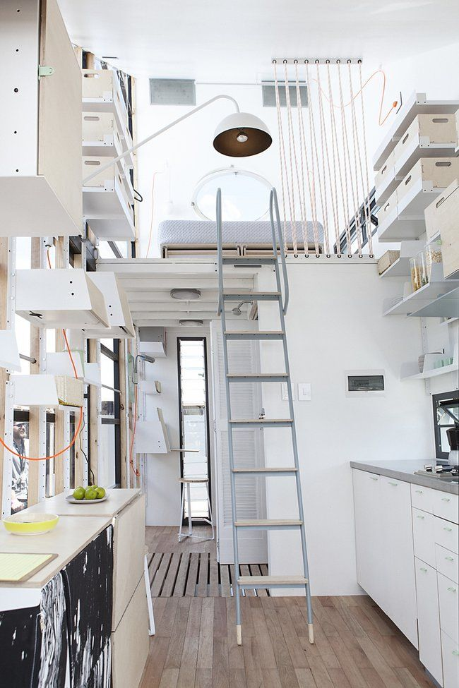 Unique 183 sq ft South African tiny house. Product designers Dokter and Misses and architects from Collaborate000 team led by Clara da Cruz Almeida created a livable, comfortable, energy-efficient and eco-friendly living space.   Tiny Homes