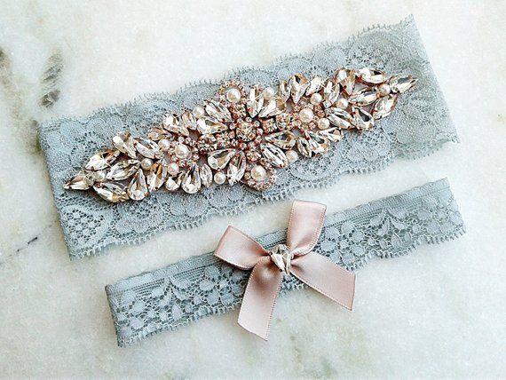 Blue /& Green Tulle Garter Bridal Garter Prom Garter Bride Wedding Garter