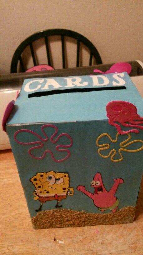 Diy spongebob card box