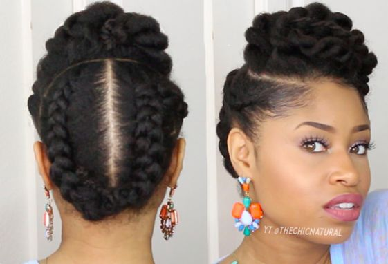 Are you styling-challenged? Do you want an easy, gorgeous style to try this month? Then check out these five natural looks: 1. 10-Minute TwistedUpdo Start on stretched hair (via African threading…