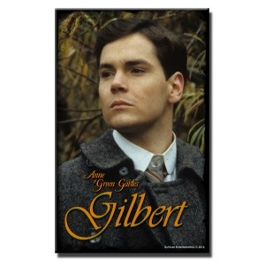 """Gilbert """"Don't Forget Me""""- Poster    """"Don't forget me"""" are the last words that Gilbert says before he leaves Anne, and boards a train back to medical school in Anne Of Green Gables: The Sequel. This poster features a close headshot of Gilbert taken from the scene in which Anne and """"Gil"""" meet amidst the fog under a romantic gazebo and he gives her a letter: """"Congratulations on your success Carrots. From your old chum; Gilbert.""""  Measurement: 11''x 17''.    US$12.95"""