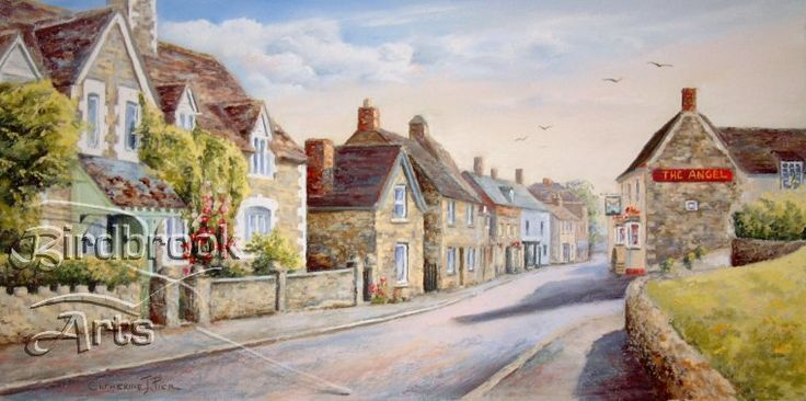 Purton High Street by well-known artist Catherine Pier