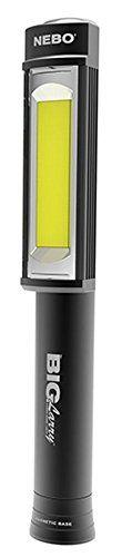 2PACK Nebo 6384 Big Larry 400 lumen Black Flashlight COB LED Magnetic Worklight