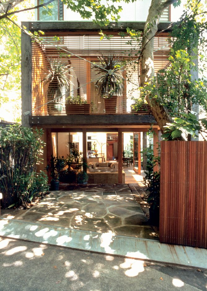 tropical container and glass home