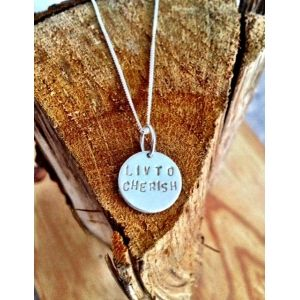 Livto cherish Ecosilver necklace.Life just races past you at times doesn't it? Only seems 5 minutes ago that we were playing in the sandpit and learning to tie our laces. Now we're all grown up and having to do things like 'coffee runs' just to stay awake. It makes it all the more important to cherish the moments and value every second that you have. Our Livto cherish coin necklace is made from 100% Ecosilver. It's what we like to do to cherish our world.