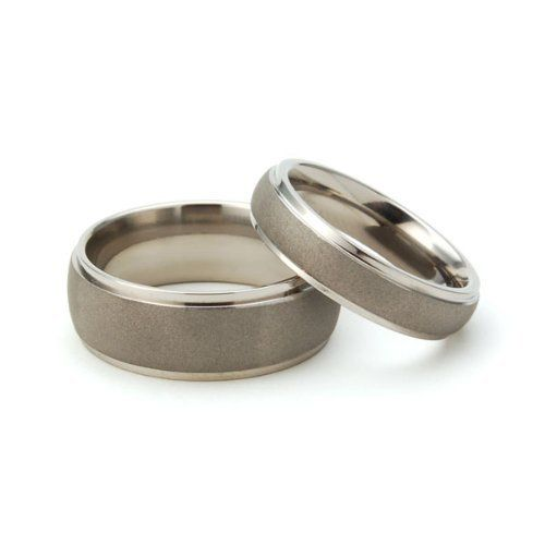 New His and Her's Matching Titanium Wedding Ring Set: http://www.amazon.com/Hers-Matching-Titanium-Wedding-Ring/dp/B0064FKAKA/?tag=autnew-20