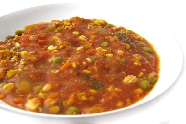 There is something so comforting about a bowl of hearty Brunswick stew. It's a traditional Southern favorite! Here's a really yummy, skinny version. Normally made with a variety of meats su…