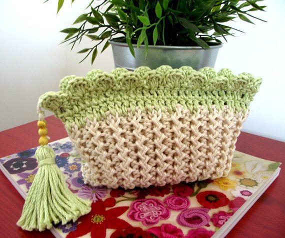 KNITTING PATTERN Purse with Tassel Crochet by LiliaCraftParty