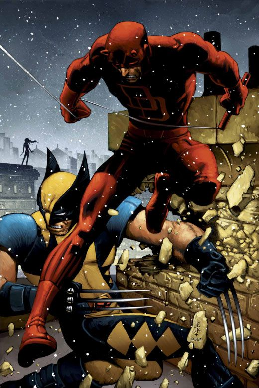 Wolverine and Daredevil by John Romita, Jr. ®  Auction your comics on http://www.comicbazaar.co.uk