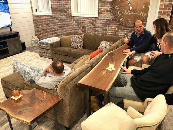 Live Edge Sofa Table - Home Bar Table En 2019