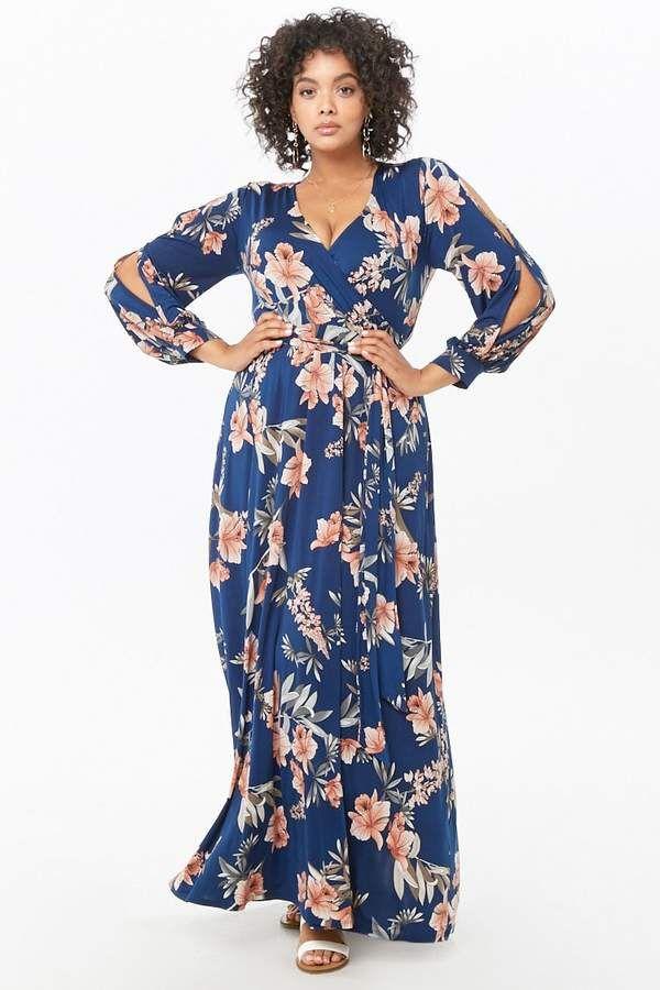 Boho Floral Maxi Dress Plus Size