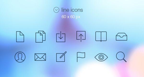 Line Icons by Jiya Rizvi, via Behance