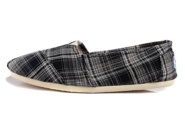New Arrival Toms women shoes Black stripe lattice
