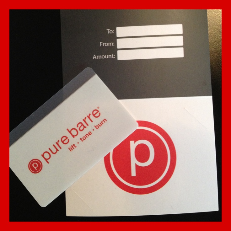 Image result for pure barre gift card