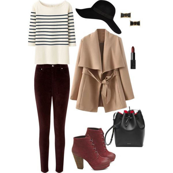Winter wonderland #striped #polyvore