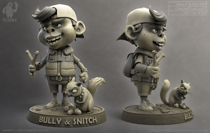 The Bully and his pet, Christian Johnson on ArtStation at https://www.artstation.com/artwork/3a0aD