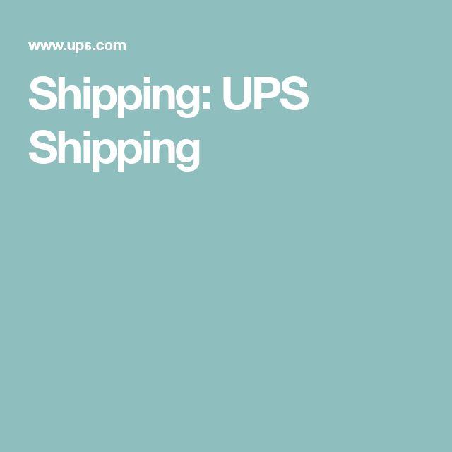 Shipping: UPS Shipping