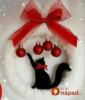 Many nice wreath designs for winter moreover cats and Christmas