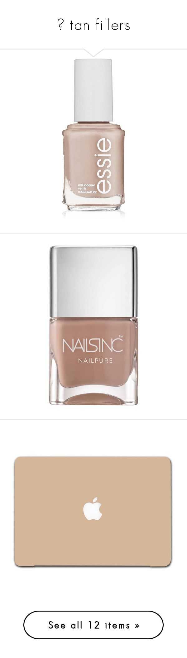 """♡ tan fillers"" by s-erene ❤ liked on Polyvore featuring beauty products, nail care, nail polish, nails, beauty, makeup, filler, nails inc., nails inc nail polish and shiny nail polish"