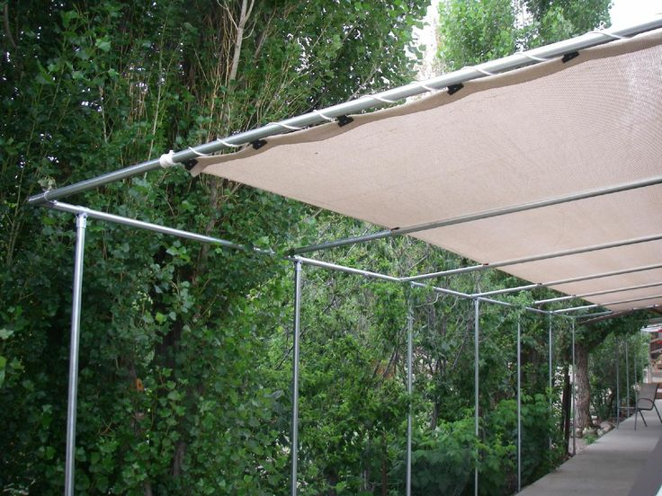 How To Install, Design, And Order Patio Pergola Knit Shade Covers