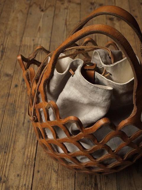 gorgeous leather basket.