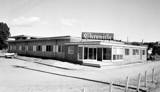Chronicle building in Price Street, Nambour, taken shortly after construction, May 1966 [picture]