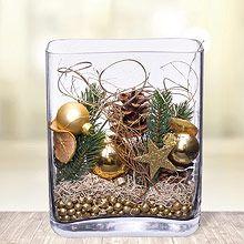 Deko-Glas Goldene Weihnachten