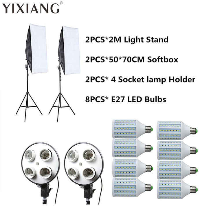 8PCS E27 LED Bulbs Photography Light Kit Photo Equipment 2PCS Softbox Light Box Light Stand For. #8PCS #Bulbs #Photography #Light #Photo #Equipment #2PCS #Softbox #Stand