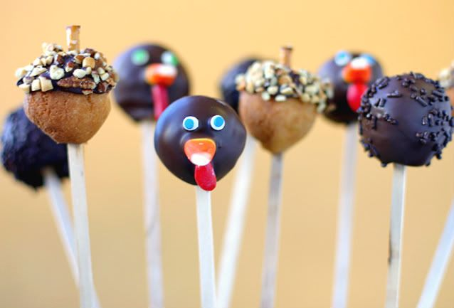 Thanksgiving Cake Pops - Oh.My!  Way.too.CUTE!